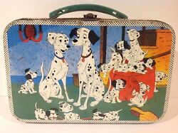 1960and039s Vintage 101 Dalmatians Metal Lunch Box Only From Chile Very Rare