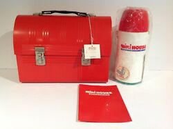 1980s Vintage Miki House Metal Dome Lunch Box With Thermos From Japan Rare