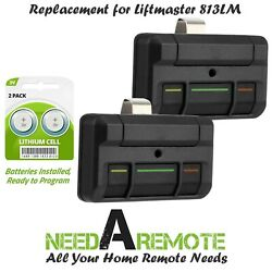 2 For Liftmaster 813lm 3-button 12 Code Dip Switch Garage Gate Remote Control