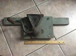Antique Coffee Grinder Country Primitive Decor Green Patina Wall Mount
