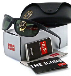 Ray Ban Predator 2 Matte Black l Green Classic G 15 RB2027 W1847 62mm $89.94