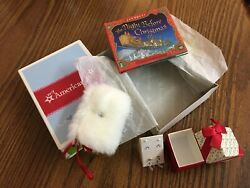 American Girl Holiday Accessories Purse Bracelet Night Before Christmas Book New