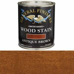 General Finishes Wood Stain Water Based Antique Brown Stain Quart