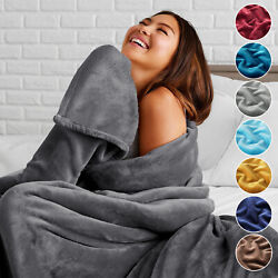 Fleece Blanket Large Sofa Throw Light Weight Faux Fur Mink Double And King Size