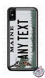 Maine State License Plate Personalized Phone Case For Iphone 11 Samsung Lg Etc