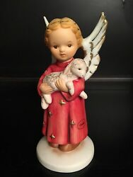 Extremely Rare Goebel Figurine 41 048 15 - Angel Holding Lamb - Mint Condition