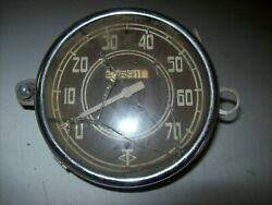 Stewart Warner Built Diamond T Cable Driven Curved Glass 5 1/4 Speedometer