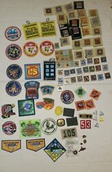 Lot Of Scout Patches And Belt Loops Achievement Awards Bsa Cub Boy Pins