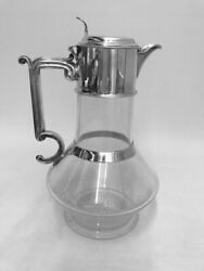 Antique Silver Claret Jug Sheffield - 1884 By Sissons And Sissons