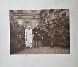Vintage Wwi Us Army Aef Photograph President Woodrow Wilson + Belgium King Queen