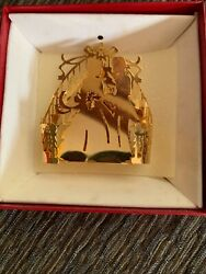 Christmas Morning 17030 Gp 1983 Brass Ornament From Marshall Fields W/ Orig Box