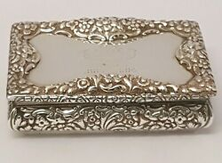 Superb Large Solid Silver Table Snuff Box Nathaniel Mills 1837