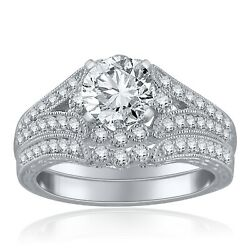 14k White Gold 0.45ctw Diamond Bypass Engagement Ring Size 6.5