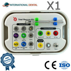 Dental Implant Broken Screw Drill Guide , Driver Remover And Repair Surgical Kit