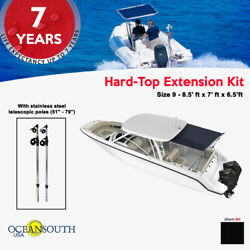 Oceansouth Hard-top Extension Black 8.5and039 X 7and039 X 6.5and039 Ft