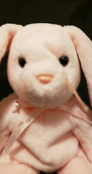 Ty Beanie Babies Hoppity The Rabbit, 1996 ,pvc , Mint With Mint Tags, Tag Errors
