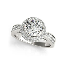 1.50 Ct Round Real Diamond Engagement Ring For Women 950 Platinum Size 5 6 7.5 8