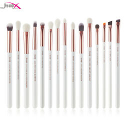 Jessup Eye Makeup Brush Rose Gold 15pcs Blending Brushes Concealer Cosmetic Kit $13.04