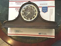 Antique Chiming German Foreign Westminster Mantel Clock Hump Back Tambour