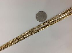 5mm 14k Solid Gold Miami Cuban Link Menand039s/womenand039s Chain Necklace 20-36