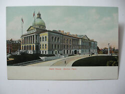 Three Pre 1910 Color Undivided Back Boston Postcards