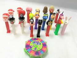 Lot Of 21 Vintage 1970's Collectible Pez Dispensers And Power Pez Dispenser