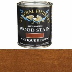 General Finishes Wood Stain Water Based Antique Brown Stain Pint