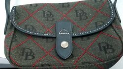 Authentic Dooney & Bourke Monogram leather canvas purse bag shoulder designer