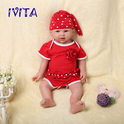 Ivita 19and039and039 Soft Silicone Reborn Doll Big Eyes Newborn Baby Girl Xmas Gift Toy
