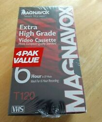 Magnavox T120 Extra High Grade Vhs Video Cassette Mhg120 Lot Of 4 Sealed