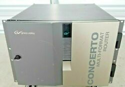 Grass Valley Concerto Multi-format Router W/ 4 Port 32 X 32 Crs2001 Cards