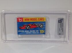 1970 Topps Mini Model Cars Authentic Unopened Graded Paper Pack Gai 8 Nm-mt