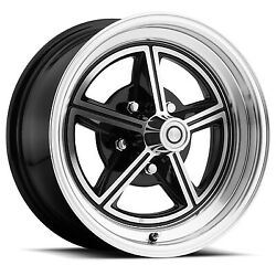 Ford Mustang Wheel Kit 15 X 7 Black / Machined Lw30-50754a