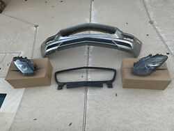 Mercedes Sls Amg Headlights And Front Bumper W Emblem And Absorber Oem - Nice