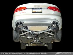 Awe Touring Edition Exhaust Chrome Silver Tips 102mm For 13-16 Audi B8 S4 3.0t