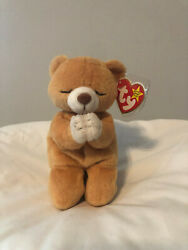 Ty Beanie Baby Hope The Praying Bear Dob March 23, 1998 With Tag Errors
