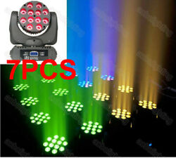 7pcs 12x10w Led Rgbw Moving Head Light Stage Party Show Dj Led Wash Moving Heads