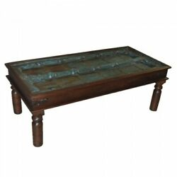 60 L Antique Door Coffee Table One Of A Kind Recycled Solid Woods Rustic