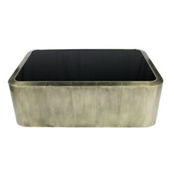 54 L Coffee Table Contemporary Inset Black Glass Top Silver Clad Metal