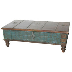 50 L Samuels Trunk Coffee Table Kiln Dried Recycled Woods One Of A Kind Rustic