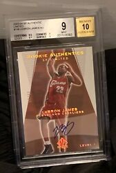 2003-04 SP AUTHENTIC LIMITED GOLD LEBRON JAMES RC AUTO BGS 9 MINT 10 AUTOGRAPH