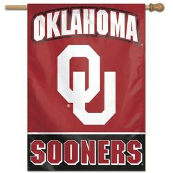 Oklahoma Sooners House Flag 28x40 Wall Banner Ncaa Officially Licensed
