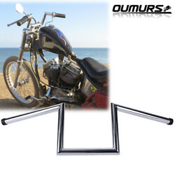 Motorcycle 1and039and039 Handlebars Z Bar Drag Bars For Harley Sportster Softail Dyna
