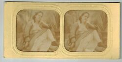 B Stereoview Photo Stereo Card Hold To Light French Tissue Nude Woman 1870-1890s