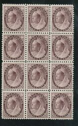 Canada 83 Mint Fine - Very Fine Never Hinged Block Of Twelve With Certificate