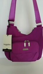 NWT Baggallini Criss Cross Bag Magenta $42.00