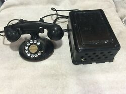 Antique Vintage 1940's Western Electric Desk Telephone With Bell Box Subset
