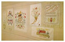 IOWA Thank You Room Hoover Library WEST BRANCH Embroidered Flour Sacks Europeans