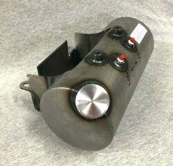 Usa Made Custom Round Side Fill Oil Tank W/ Battery Tray For Harley And Customs