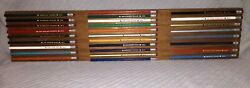 Vintage 1970's Lot Of 28 Unsharpened Nfl No. 2 Pencils Custom Made Wall Plaque